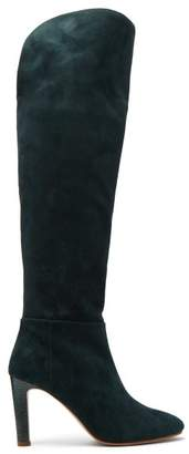 Gabriela Hearst - Linda Over The Knee Suede Boots - Womens - Dark Green