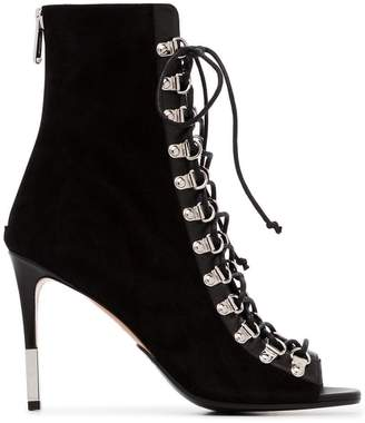 Balmain Club 95 suede ankle boots