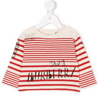 Burberry striped sweatshirt
