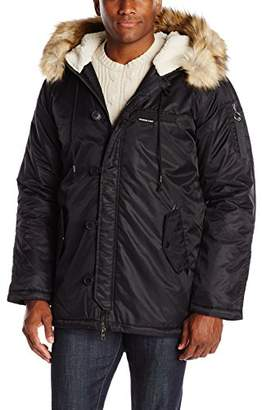Members Only Men's Military Hooded Long Parka