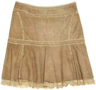 Ventcouvert Brown Suede Skirts