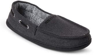 Nautica Grey Deckhand Moccasin Wool Slippers