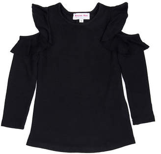 MAYAH KAY FASHION Mayah Kay Fashion Ruffled Open Shoulder Tunic