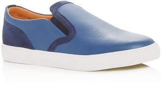 Harry's of London Men's Frisky Milled Leather Slip-On Sneakers