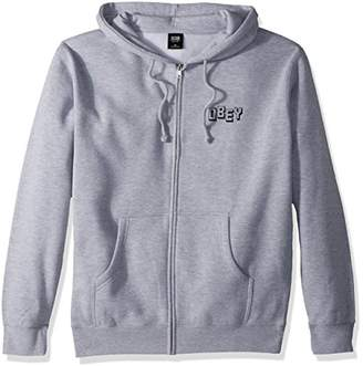 Obey Men's Jumble Hooded Zip Sweatshirt