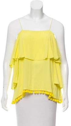 Alice + Olivia Ruffle-Tiered Sleeveless Top