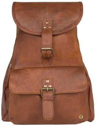 Mahi Leather Leather Explorer Backpack/Rucksack Womens In Vintage Brown