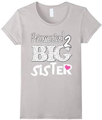 Promoted Big Sister Pregnancy Gender Reveal T-shirt