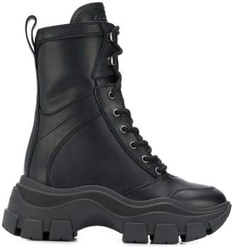 Prada chunky ankle boots