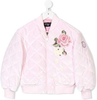 MonnaLisa floral embroidered bomber jacket