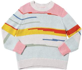 Stella McCartney Intarsia Cotton & Wool Knit Sweater