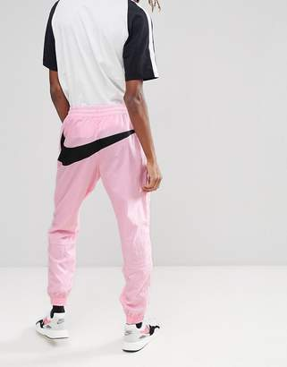 Nike Vaporwave Joggers With Large Swoosh In Pink Aj2300-686