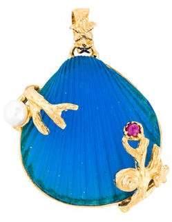 Tagliamonte Pearl & Ruby Sea Life Pendant