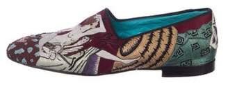 Tom Ford William Velvet Embroidered Smoking Slippers