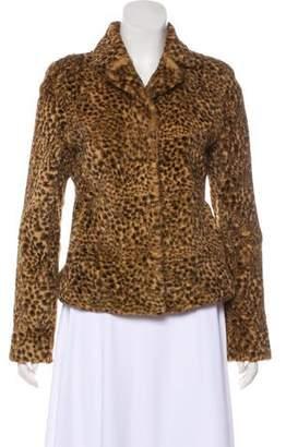 Adrienne Landau Printed Fur Jacket