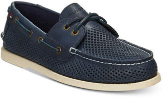 Tommy Hilfiger Men's Perforated Bowman Boat Shoes Men's Shoes