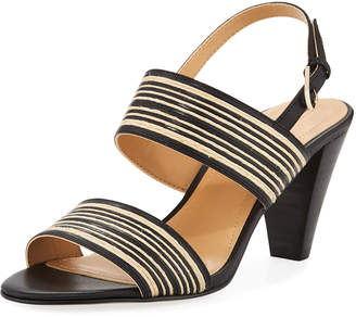 Tahari Easy Striped Raffia Sandal