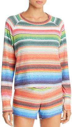 LnA Baja Brushed Striped Sweatshirt