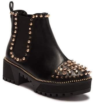 Cape Robbin Spiky Platform Chelsea Boot