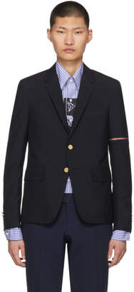 Thom Browne Navy Selvedge Arm Placement Blazer