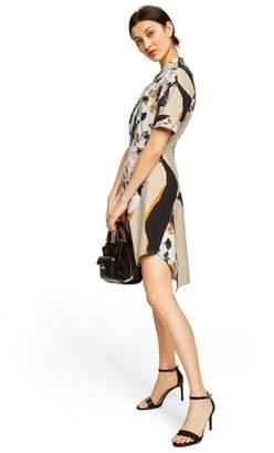 3.1 Phillip Lim for Target Women's Floral Print Short Sleeve Crewneck Zip-Front Shirtdress