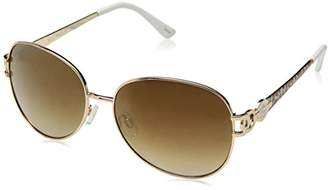 Rocawear Women's R568 GLDWH Oval Sunglasses