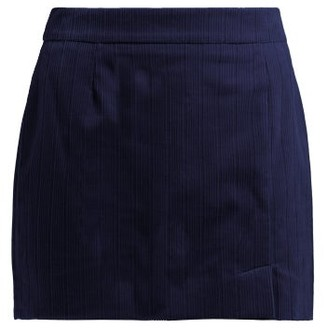 Bella Freud Alexa Cotton Corduroy Mini Skirt - Womens - Navy