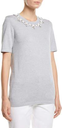 Michael Kors Shell-Necklace Cotton T-Shirt