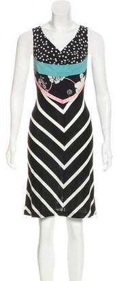 Christian Lacroix Silk-Trimmed Striped Dress