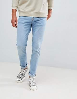 Bershka Skinny Jeans In Light Blue