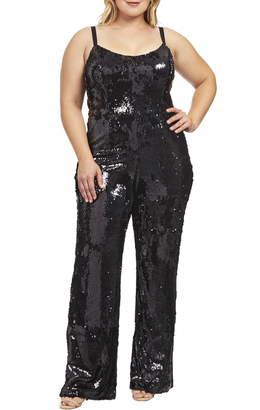 e36ac1b4416 Dress the Population Victoria Sequin Jumpsuit