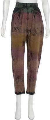 Raquel Allegra Tie-Dye High-Rise Sweatpants