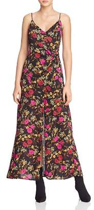 ASTR the Label Valentina Floral Print Faux-Wrap Maxi Dress