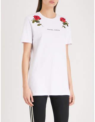 Criminal Damage Thorn cotton-jersey T-shirt