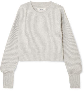 RE/DONE Ribbed Wool And Cashmere-blend Sweater - Gray