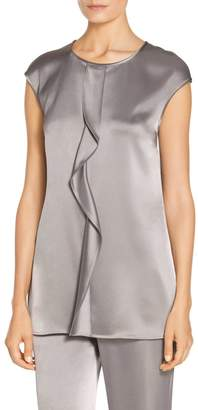 Clearance Pre Order The Ruffle Stretch-jersey Top - Gray The Great. Cheap Free Shipping y5D9NX