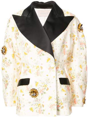 Christopher Kane contrast lapel coat