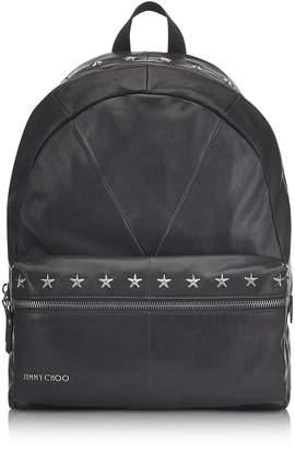 Jimmy Choo Reed Bls Biker Black Leather Backpack W/studded Stars
