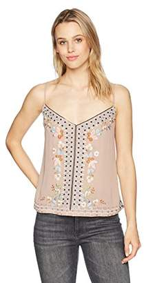 French Connection Women's Bijou Stappy Embroidered Cami Shirt