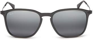 Ray-Ban 'Graphene' metal temple mirror acetate wayfarer sunglasses