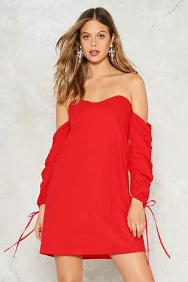 Nasty Gal Heart to Heart Off-the-Shoulder Dress