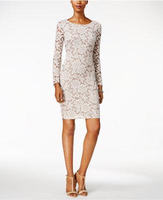 Jessica Howard Illusion Lace Sheath Dress $89 thestylecure.com