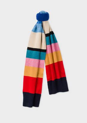 Paul Smith Women's Vintage Stripe Wool Knit Scarf