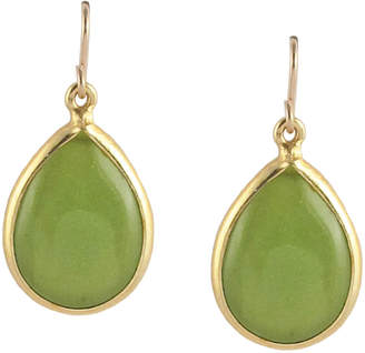 Devon Leigh Green Jade Pear Drop Earrings