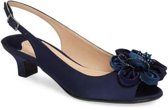 1a0b0e153a3 J. Renee Leonelle Slingback Crystal Embellished Sandal