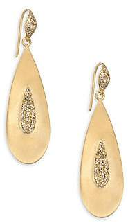 Bavna Women's 18K Gold Teardrop Earrings