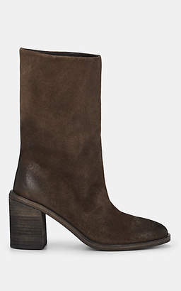 Marsèll Women's Suede Mid-Calf Boots - Dark Gray