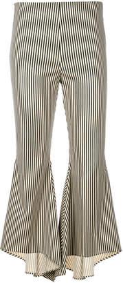 Alice + Olivia Alice+Olivia striped asymmetric cuffed trousers