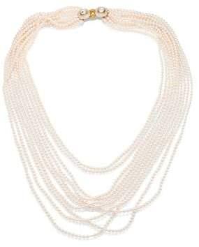 Oscar de la Renta Multi Strand Faux-Pearl Necklace