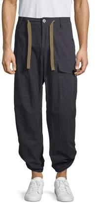 G Star Raw Drawstring Cotton-Blend Cargo Pants